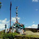 Pilar a Rocacorba per celebrar que hem descarregat 100 castells de 6